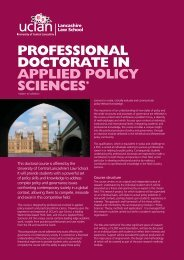 Professional Doctorate in Applied Policy Sciences - University of ...
