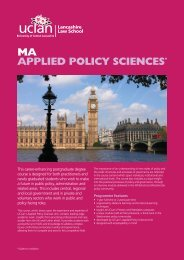 MA in Applied Policy Sciences - University of Central Lancashire
