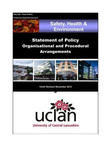 Safety, Health & Environment Policy - University of Central Lancashire