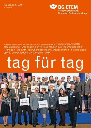 Ausgabe 4 / 2010 Neue Satzung – was ändert sich ... - Die BG ETEM