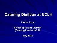 Dietetics and Catering