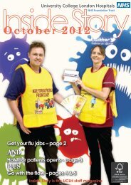 Inside Story - October 2012 - University College London Hospitals
