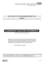 Public constituency candidate statements - University College ...