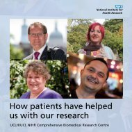 How patients have helped us with our research - University College ...