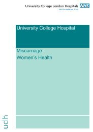 Miscarriage - University College London Hospitals