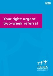 Your right: urgent two-week referral