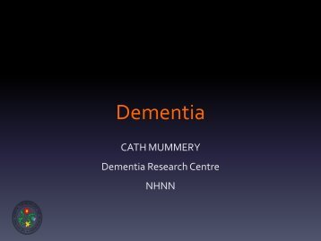 Dementia membersmeet presentation