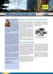 WIR IN STUTTGART OST no 01 - FDP Stuttgart