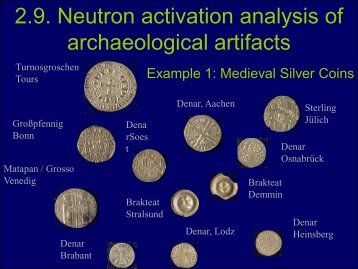 2.9. Neutron activation analysis of archaeological artifacts