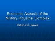 Economic Aspects of the Military Industrial Complex - ISNAP