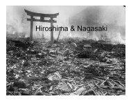 Hiroshima & Nagasaki - ISNAP