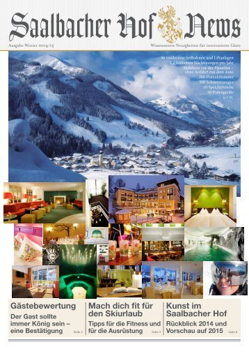 Hotel Saalbacher Hof | News Winter 14/15