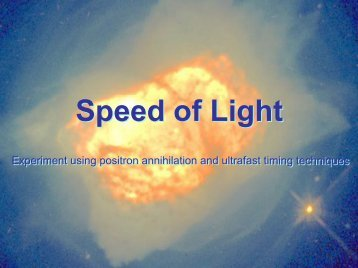 Speed of Light Speed of Light