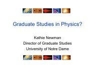 Graduate Studies in Physics? - Institute for Structure and Nuclear ...