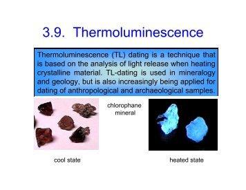 thermoluminescence (tl) dating pentagon dating rumours