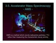 3.5. Accelerator Mass Spectroscopy - AMS -