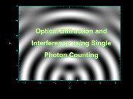 Optical Diffraction and Interference using Single Photon Counting ...
