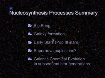 nucleosynthesis and chemical evolution of galaxies ebook Galaxies coalesce into proto-clusters from about 1 ga (z this was the period in the evolution of the early universe immediately after electroweak symmetry.