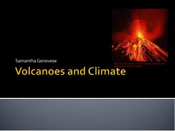 Volcano Eruptions and the Consequences for Global Temperature