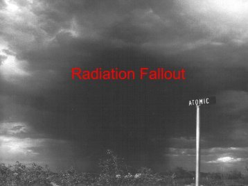 Radiation Fallout - Institute for Structure and Nuclear Astrophysics