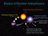 1) Topics in Nuclear Astrophysics - Institute for Structure and ...
