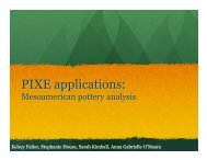 PIXE Applications in Mesoamerican Pottery Analysis