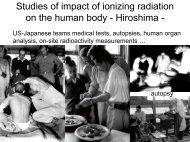 Studies of impact of ionizing radiation on the human body ...