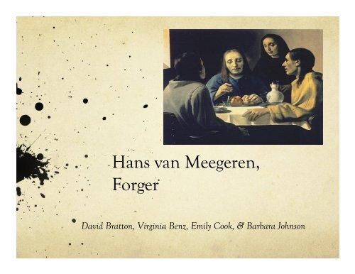 Hans van Meegeren, Forger