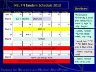 NSL FN Tandem Schedule 2013 - ISNAP