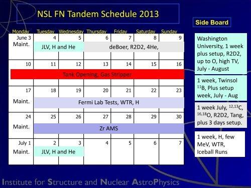 NSL FN Tandem Schedule 2013
