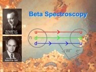 Beta Spectroscopy