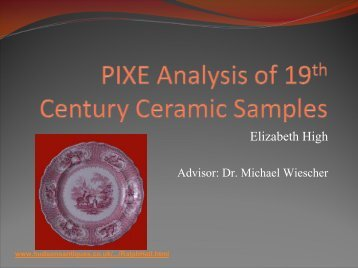 Analysis of Historic Pottery - ISNAP