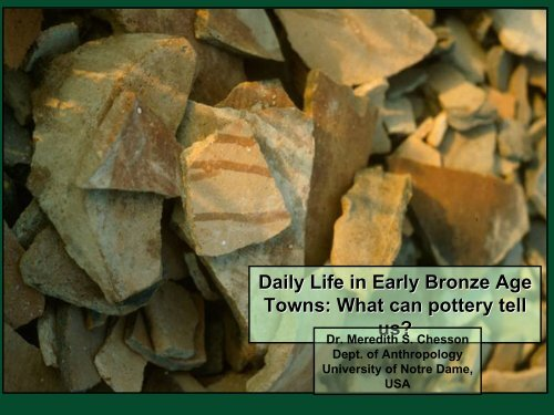 What can pottery tell us? - University of Notre Dame