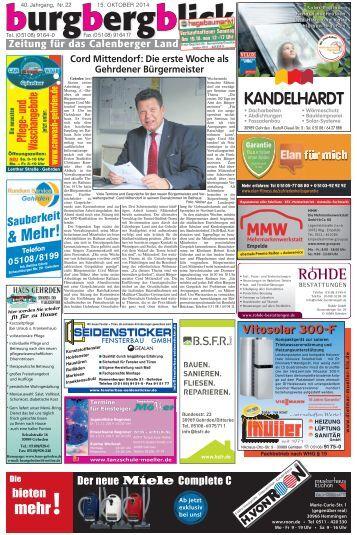 burgbergblick Nr. 22, 2014