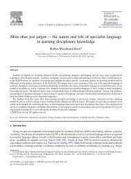 More than just jargon – the nature and role of specialist language in ...