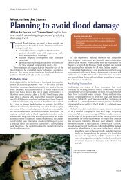 Planning to avoid flood damage - pdf article