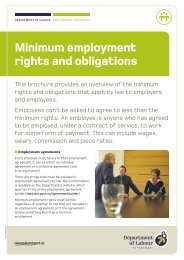 Minimum employment rights and obligations