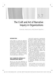 The Craft and Art of Narrative Inquiry in Organizations