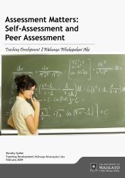 Assessment Matters: Self-Assessment and Peer Assessment
