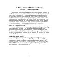 15. Living Trusts and Other Transfers of Property That Avoid Probate