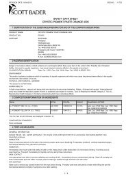 safety data sheet crystic pigment paste orange 4305 - Flint Hire ...