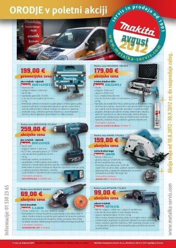 akcijska cena - Metalka-servis.com