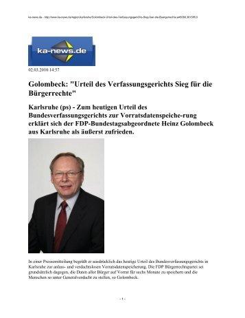 Urteil des Verfassungsgerichts Sieg für die ... - FDP Karlsruhe