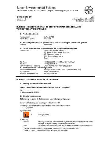 Veiligheidsfiche - Bayer Pestcontrol Expert