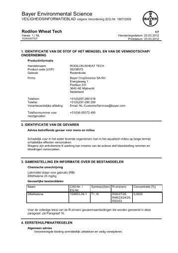 MSDS (Weat Tech) - Bayer Pestcontrol Expert