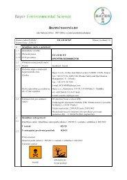 Bezpečnostní list - Bayer Pestcontrol Expert