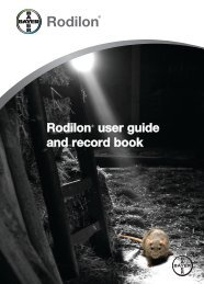 Rodilon® user guide and record book - Bayer Pestcontrol Expert
