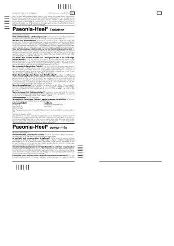 Paeonia-Heel® Paeonia-Heel® - generika.cc
