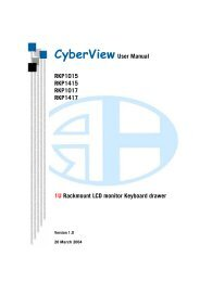 Cyberview User Manual RKP1015 RKP1415 RKP1017 ... - Daxten