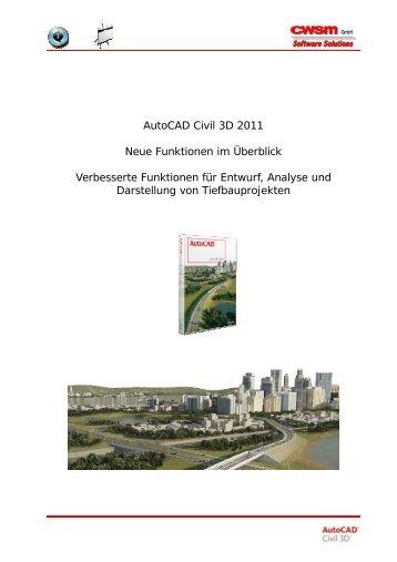 Autocad Civil 3D 2011 Neue Funktionen im ... - CWSM Gmbh